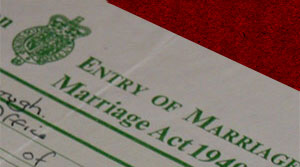 copy of a Marriage Certificate